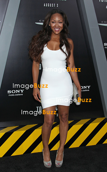 "Meagan Good at the "" Total Recall "" movie premiere in Hollywood..Los Angeles, August 1, 2012."