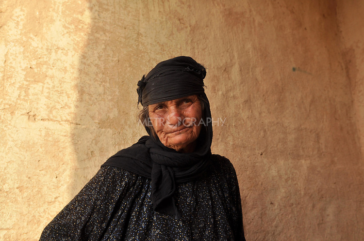 DOWDA, IRAQ:  Poura Najima lost 5 members of her family in the Anfal campaign.  She now lives alone...Iraqi forces decimated the Dowda area in Germian during the 1988 Anfal genocidal campaign against the Kurds.  Daily life continues is this extremely harsh part of Iraq...Photo by Aram Karim/Metrography
