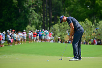 Henrik Stenson (SWE) watches his putt on 1 during Saturday's round 3 of the PGA Championship at the Quail Hollow Club in Charlotte, North Carolina. 8/12/2017.<br /> Picture: Golffile | Ken Murray<br /> <br /> <br /> All photo usage must carry mandatory copyright credit (&copy; Golffile | Ken Murray)
