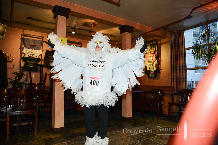 Wild and wacky costumes were on display at the Frostbite Footrace costume contest, one of the highlights of the 2013 Anchorage, Alaska, Fur Rendezvous.
