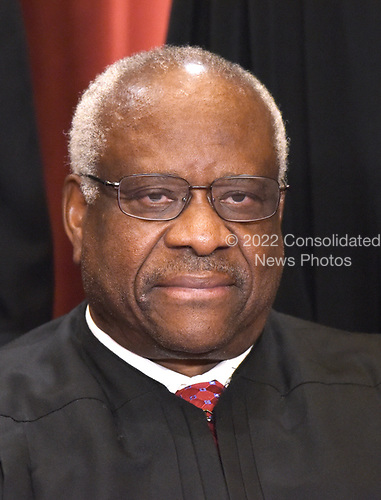 Associate Justice Clarence Thomas poses for a group photograph at the Supreme Court building on June 1 2017 in Washington, DC.  <br /> Credit: Olivier Douliery / Pool via CNP