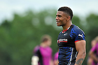Kyle Eastmond is all smiles. Bath Rugby training session on August 21, 2012 at Farleigh House in Bath, England. Photo by: Patrick Khachfe/Onside Images