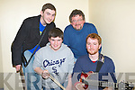 ROCK& Roll: Sparkle Motion from Dingle who entered the heats of the Battle of the Bands in The KDYS on Friday night, Lr DD Foley,Thomas O'Brien, John Buggy(judge) and Kevin O'Brien(Castlemaine)...