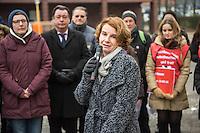 """Gedenken an Ehrenmord-Opfer Hatun Sueruecue in Berlin.<br /> Am Dienstag den 7. Februar 2017 wurde in Berlin-Tempelhof der am 7.2.2005 ermordeten Deutsch-Kurdin Hatun Sueruecue gedacht. Die 21jaehrige Frau wurde von ihrer Familie ermordet, weil sie sich nicht an die """"traditionellen"""" Werte gehalten hat, eine Ausbildung zur Elektroinstallatoerin gemacht hat und mit ihrem unehelichen Kind ein selbstbestimmtes Leben fuehren wollte.<br /> Der Mord wurde in Abstimmung mit der Familie von ihren Bruedern durchgefuehrt, als Taeter wurde der damals minderjaehriger Bruder vorgeschickt. Zwei Brueder fluechteten in die Tuerkei.<br /> Im Bild: Barbara Koenig (SPD), Staatssekretaerin in der Senatsverwaltung fuer Gesundheit, Pflege und Gleichstellung.<br /> 7.2.2017, Berlin<br /> Copyright: Christian-Ditsch.de<br /> [Inhaltsveraendernde Manipulation des Fotos nur nach ausdruecklicher Genehmigung des Fotografen. Vereinbarungen ueber Abtretung von Persoenlichkeitsrechten/Model Release der abgebildeten Person/Personen liegen nicht vor. NO MODEL RELEASE! Nur fuer Redaktionelle Zwecke. Don't publish without copyright Christian-Ditsch.de, Veroeffentlichung nur mit Fotografennennung, sowie gegen Honorar, MwSt. und Beleg. Konto: I N G - D i B a, IBAN DE58500105175400192269, BIC INGDDEFFXXX, Kontakt: post@christian-ditsch.de<br /> Bei der Bearbeitung der Dateiinformationen darf die Urheberkennzeichnung in den EXIF- und  IPTC-Daten nicht entfernt werden, diese sind in digitalen Medien nach §95c UrhG rechtlich geschuetzt. Der Urhebervermerk wird gemaess §13 UrhG verlangt.]"""