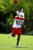 Jun 9, 2008; Tempe, AZ, USA; Arizona Cardinals wide receiver (80) Early Doucet during mini camp at the Cardinals practice facility. Mandatory Credit: Mark J. Rebilas-