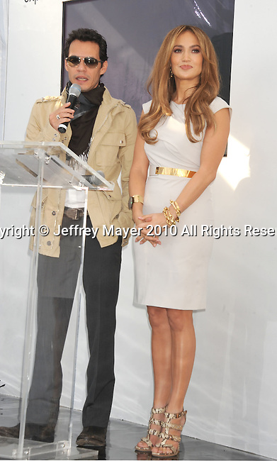 WEST HOLLYWOOD, CA. - November 18: Marc Anthony and Jennifer Lopez announce a new partnership with Kohl's at The London Hotel on November 18, 2010 in West Hollywood, California.