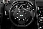 Steering wheel view of a 2007 - 2009 Aston Martin Vantage V8 Roadster Coupe.