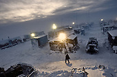 """Geo-physics company """"Siesmorevzedka"""" sets up a colony in the middle of the tundra in the Nenets Autonomous region, hundreds of kilometres from civilization, to prospect for oil and gas."""
