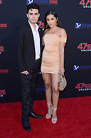 """LOS ANGELES - AUG 13:  Joshua Solis, Natalie Villa at the """"47 Meters Down: Uncaged"""" Los Angeles Premiere at the Village Theater on August 13, 2019 in Westwood, CA"""
