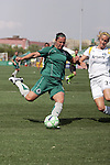 25 April 2009: Melissa Tancredi (left) of Saint Louis Athletica tries to send the ball around Allison Falk (3) of the Los Angeles Sol.  Saint Louis Athletica tied the visiting Los Angeles Sol 0-0  in a regular season Women's Professional Soccer game at Robert R. Hermann Stadium at St. Louis University, St. Louis, Missouri.