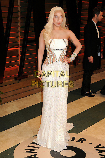 02 March 2014 - West Hollywood, California - Lady Gaga (Stefani Joanne Angelina Germanotta). 2014 Vanity Fair Oscar Party following the 86th Academy Awards held at Sunset Plaza.  <br /> CAP/ADM/BP<br /> &copy;Byron Purvis/AdMedia/Capital Pictures