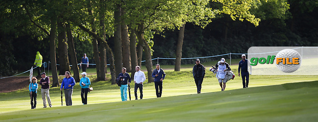 The slope on the 17th fairway during the Pro-Am ahead of the 2015 BMW PGA Championship over the West Course at Wentworth, Virginia Water, London. Picture David lloyd, www.golffile.ie: 20/05/2015