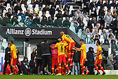 5th November 2017, Allianz Stadium, Turin, Italy; Serie A football, Juventus versus Benevento; Benevento players celebrate their opening goal for 0-1 from Ciciretti