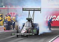 Oct 28, 2016; Las Vegas, NV, USA; NHRA top fuel driver Brittany Force during qualifying for the Toyota Nationals at The Strip at Las Vegas Motor Speedway. Mandatory Credit: Mark J. Rebilas-USA TODAY Sports