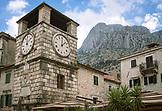 MONTENEGRO, Bay of Kotor,  Clock Tower in Old Town Kotor, Ben M Thomas