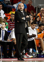 Mad-Croc Fuenlabrada's coach Trifon Poch during Liga Endesa ACB match.November 18,2012. (ALTERPHOTOS/Acero) /NortePhoto