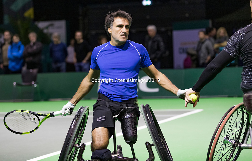 Rotterdam, The Netherlands, 14 Februari 2019, ABNAMRO World Tennis Tournament, Ahoy, Wheelchair, Stephane Houdet (FRA),<br /> Photo: www.tennisimages.com/Henk Koster