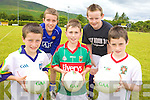 ON THE BALL:  Testing their skills at the VHI GAA Cu?l Camp in Glenflesk last Thursday were, front l-r: Christopher O'Donoghue, Conor O'Donoghue, Daniel O'Brien. Back l-r: Finian Wall, Darragh Lynch.