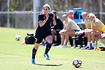 CARY, NC - APRIL 01: Courage's McCall Zerboni. The NWSL's North Carolina Courage played a preseason game against the Wake Forest Demon Deacons on April 1, 2017, at WakeMed Soccer Park Field 3 in Cary, NC. The Courage won the match 3-0.