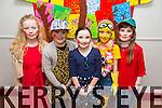 CHRISTMAS PLAY: Grace Reidy, Katelyn McBride, Evie Lynch, Orla Barry, Jessica Griffin  students  at Scoil Eoin, Balloonagh enjoying their Christmas play on Tuesday