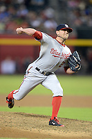 Washington Nationals pitcher Drew Storen (22) during a game against the Arizona Diamondbacks at Chase Field on September 28, 2013 in Phoenix, Arizona.  Washington defeated Arizona 2-0.  (Mike Janes/Four Seam Images)