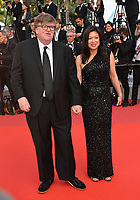 CANNES, FRANCE. May 25, 2019: Michael Moore & Sonia Low at the Closing Gala premiere of the 72nd Festival de Cannes.<br /> Picture: Paul Smith / Featureflash