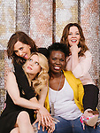 Actresses Kristen Wiig (from top left, clockwise), Melissa McCarthy, Leslie Jones, and Kate McKinnon star in the remake of &quot;Ghostbusters.&quot; They pose for a portrait at the Hollywood Roosevelt Hotel in Los Angeles, California June 7, 2016. <br /> <br /> Photo by Brinson+Banks