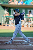 John Cresto (27) of the Grand Junction Rockies bats against the Ogden Raptors at Lindquist Field on June 25, 2018 in Ogden, Utah. The Raptors defeated the Rockies 5-3. (Stephen Smith/Four Seam Images)