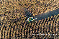 63801-12810 Harvesting corn in fall-aerial  Marion Co. IL