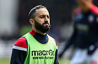 Bolton Wanderers' Erhun Oztumer pictured before the match <br /> <br /> Photographer Andrew Kearns/CameraSport<br /> <br /> The EFL Sky Bet Championship - Derby County v Bolton Wanderers - Saturday 13th April 2019 - Pride Park - Derby<br /> <br /> World Copyright &copy; 2019 CameraSport. All rights reserved. 43 Linden Ave. Countesthorpe. Leicester. England. LE8 5PG - Tel: +44 (0) 116 277 4147 - admin@camerasport.com - www.camerasport.com