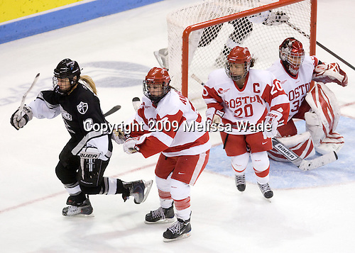 Nicole Anderson (Providence - 20), Melissa Anderson (BU - 24), Melissa Tetreau (BU - 20), Melissa Haber (BU - 33) - The Boston University Terriers defeated the Providence College Friars 5-3 on Saturday, November 14, 2009, at Agganis Arena in Boston, Massachusetts.