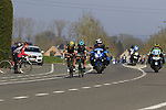 The 2nd group on the road Luke Durbridge (AUS) Orica-Scott and Lukas Postlberger (AUT) Bora-Hansgrohe with 12k to go during the 60th edition of the Record Bank E3 Harelbeke 2017, Flanders, Belgium. 24th March 2017.<br /> Picture: Eoin Clarke | Cyclefile<br /> <br /> <br /> All photos usage must carry mandatory copyright credit (&copy; Cyclefile | Eoin Clarke)