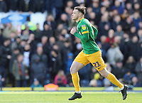 Preston North End's Brandon Barker sprints into position after replacing Sean Maguire in the second half<br /> <br /> Photographer Rich Linley/CameraSport<br /> <br /> The EFL Sky Bet Championship - Blackburn Rovers v Preston North End - Saturday 9th March 2019 - Ewood Park - Blackburn<br /> <br /> World Copyright © 2019 CameraSport. All rights reserved. 43 Linden Ave. Countesthorpe. Leicester. England. LE8 5PG - Tel: +44 (0) 116 277 4147 - admin@camerasport.com - www.camerasport.com