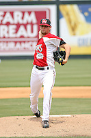 Pitcher Kyle McCulloch #28 of the Carolina Mudcats on the mound during a game against the Chattanooga Lookouts on May 22, 2011 at Five County Stadium in Zebulon, North Carolina. Photo by Robert Gurganus/Four Seam Images.