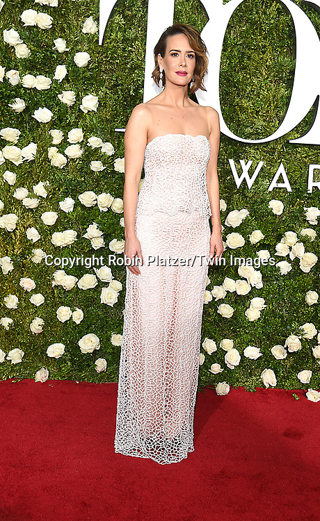 Sarah Paulson attends the 71st Annual  Tony Awards on June 11, 2017 at Radio City Music Hall in New York, New York, USA.<br /> <br /> photo by Robin Platzer/Twin Images<br />  <br /> phone number 212-935-0770