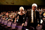 Callista Gingrich, center, wife of former Speaker of the House Newt Gingrich, right, attend a screening of the movie A City Upon A Hill, which the two of them host, on Friday, April 29, 2011 in Washington, DC.