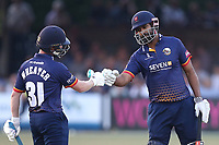 Adam Wheater and Varun Chopra of Essex during Essex Eagles vs Middlesex, Vitality Blast T20 Cricket at The Cloudfm County Ground on 6th July 2018