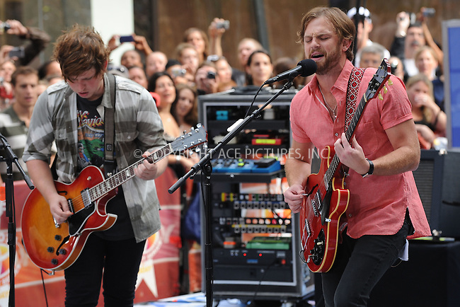 WWW.ACEPIXS.COM . . . . . ....July 31 2009, New York City....Recording artists Kings Of Leon perform on NBC's 'Today' show at the Rockefeller Center on July 31, 2009 in New York City. ....Please byline: KRISTIN CALLAHAN - ACEPIXS.COM.. . . . . . ..Ace Pictures, Inc:  ..tel: (212) 243 8787 or (646) 769 0430..e-mail: info@acepixs.com..web: http://www.acepixs.com