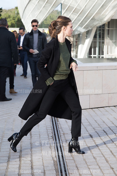 Marine Vacth  attend Louis Vuitton Show Front Row - Paris Fashion Week  2016.<br /> October 7, 2015 Paris, France<br /> Picture: Kristina Afanasyeva / Featureflash