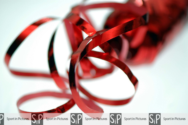 A close up of some ribbon