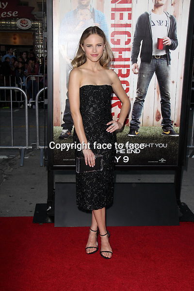 WESTWOOD, CA - April 28: Halston Sage at the &quot;Neighbors&quot; World Premiere, Village Theater, Westwood, April 28, 2014.<br />