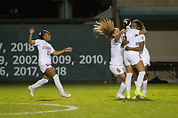 STANFORD, CA - NOVEMBER 22: Stanford, CA - November 22, 2019: Catarina Macario, Maya Doms, Carly Malatskey, Kiki Pickett at Laird Q. Cagan Stadium. The Stanford Cardinal defeated Hofstra 4-0 in the second round of the NCAA tournament. during a game between Hofstra and Stanford Soccer W at Laird Q. Cagan on November 22, 2019 in Stanford, California.