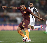 Calcio, Serie A: Roma, stadio Olimpico, 14 maggio 2017.<br /> AS Roma's Emerson Palmieri in action during the Italian Serie A football match between AS Roma and Juventus at Rome's Olympic stadium, May 14, 2017.<br /> UPDATE IMAGES PRESS/Isabella Bonotto
