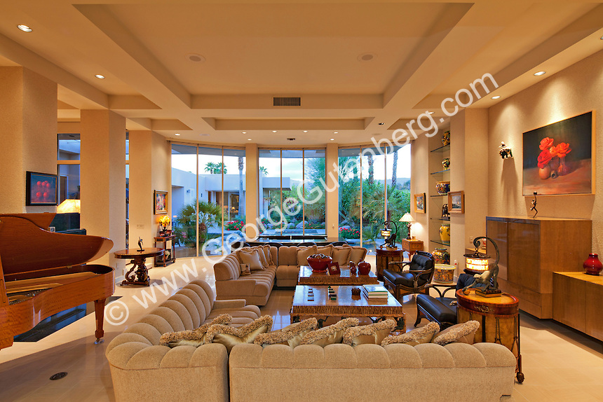 Stock photo of living room in luxury home stock for Large family living room