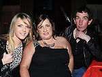 Stephanie Smith, Eddie Smyth and Anna Coogan pictured at Charlene Kealy's 21st birthday in the Star and Crescent. Photo: Colin Bell/pressphotos.ie