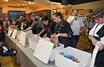 A photograph taken during the Reno Bites Chef Showdown at Czyz's Appliance's gourmet kitchens in Reno, October 14, 2017.