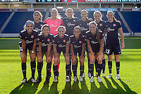 Bridgeview, IL, USA - Sunday, May 29, 2016: Sky Blue FC Starting eleven before a regular season National Women's Soccer League match between the Chicago Red Stars and Sky Blue FC at Toyota Park. The game ended in a 1-1 tie.