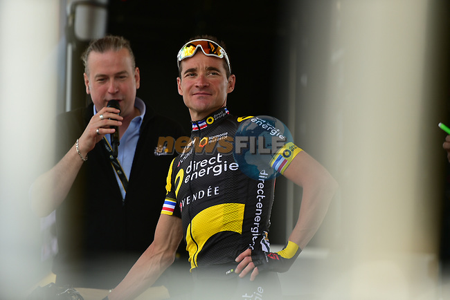 Thomas Voeckler (FRA) Direct Energie at sign on in Mondorf-les-Bains before the start of Stage 4 of the 104th edition of the Tour de France 2017, running 207.5km from Mondorf-les-Bains, Luxembourg to Vittel, France. 4th July 2017.<br /> Picture: ASO/Pauline Ballet | Cyclefile<br /> <br /> <br /> All photos usage must carry mandatory copyright credit (&copy; Cyclefile | ASO/Pauline Ballet)