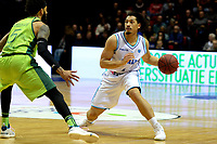 GRONINGEN - Basketbal, Donar - Dinamo Sassari, Martiniplaza, Europe Cup, seizoen 2018-2019, 12-12-2018,  Donar speler Sean Cunningham met Sassari  speler  Terran Petteway