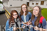 Students attending Presentation Secondary School, Tralee, pictured with their Leaving Certificate results on Wednesday morning were l-r: Sheema Gohar, Hannah O'Connor and Aoife Sheehan, all from Tralee.